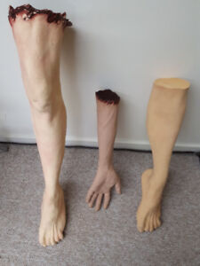 Limbs: Severed arm and legs - $10