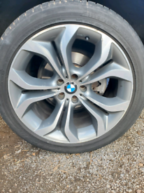 Alloy wheels for BMW X5 or X6 with tyres