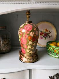 Vintage antique table lamp base.