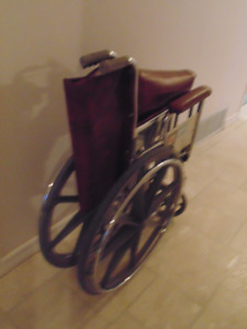 Brown wheel chair