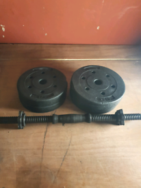 Dumbell with weights 2×2.5 / 2×2 kg