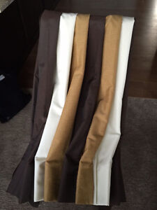 Cream/Gold/Brown Striped Side Panels/Curtains