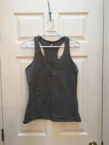 Three Joe Fresh active wear racer back tanks