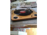 ION Max LP turntable with stereo speakers record player