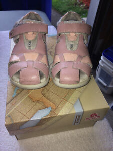 Sandales cuir rose / Pink leather sandals Size 27