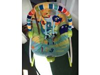 Bright stars vibrating baby chair