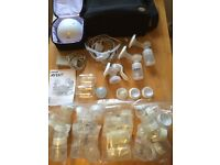 Philips Avent Double Electric Breast Pump and Philips Avent Manual Breast Pump