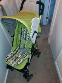 Mothercare green pushchair