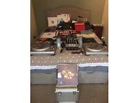 DJ Vestax decks, KAM mixer, New Ortofon Pro Carts & needles and loads of vinyl