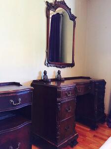 Set de chambre antique en bois de rose