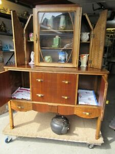 GRAMAS ESTATE 1930S ART DECO CHINA CABINET / HUTCH Moose Jaw Regina Area image 5
