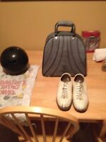 Bowling Ball and Shoes set
