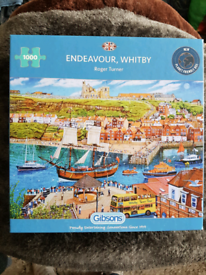 Gibson 1000 piece jigsaw puzzle ' Endeavour, Whitby'