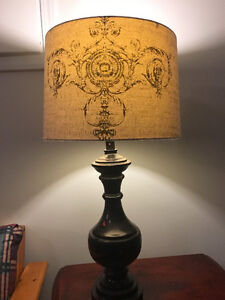 Set of tall end table lamps