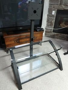 Modern Steel & Glass TV Stand For Sale