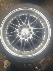 Set of 4 rims and tires 205/40r17