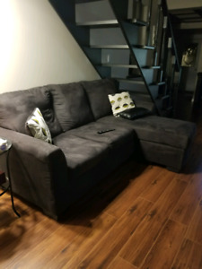 Micro Suede Black Couch