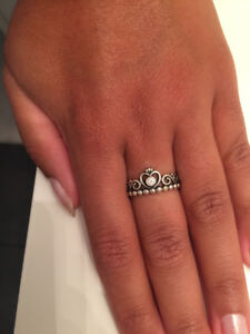 Pandora Princess Ring & and other silver rings