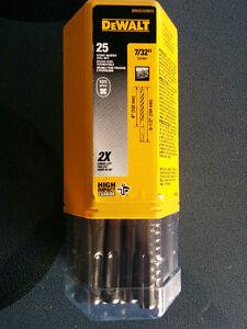 25 Pack Dewalt Masonry Carbide SDS Bits