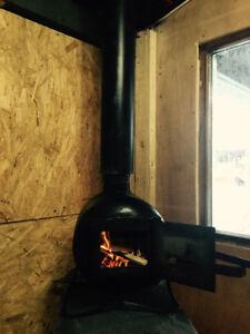 Ice hut Wood stove