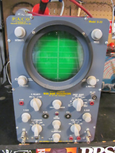 PACO S-55 Vintage Oscilloscope for guitar amp repairs