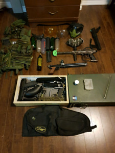Lots of paintball gear