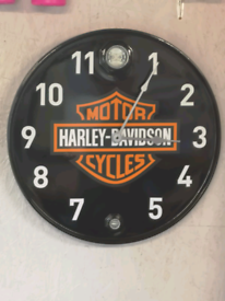 Harley Davidson clock seats bench made from oil drum