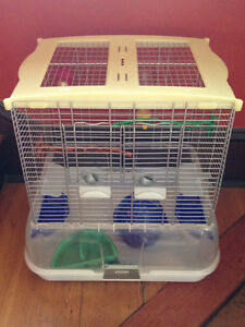 Vision bird cage with accessories