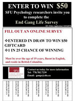 SFU Psychology Research: ENTER TO WIN $50