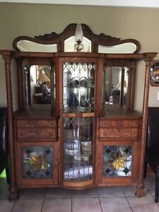 Antique cabinet oak buffet - with history
