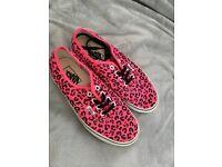 Pink Leopard print vans size uk 5