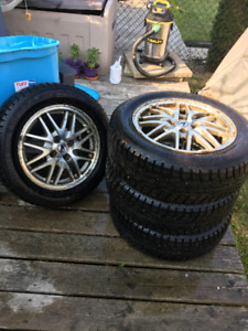 SET OF 4 WINTER CLAW SPORT SX1 TIRES 195/60 R 15