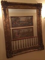 Large mirror with beautiful frame 4ft x 5ft