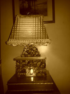 old fireplace lamp