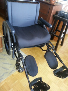 "Big size: Quicky 2 wheelchair, wide seat: 22,5 "", looks like new"