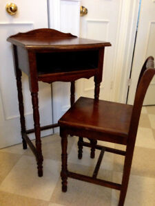 Antique Phone Table and Chair, Excellent Condition, could be use