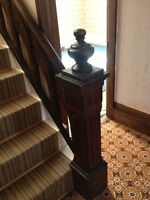 Antique banister and railing