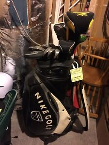 High end men's LH clubs and staff bag