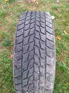 Four Toyo winter tires on rims Cornwall Ontario image 1