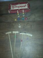 Vintage Table Top Croquet Game