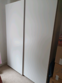 White pax wardrobe sliding doors 150 x201