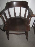 solid wood arm chair
