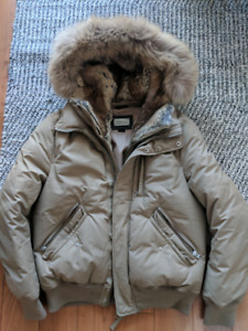 Men's Mackage Down Parka with Fur Size 42