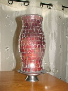 Stained Glass (Hurricane Candle holder)