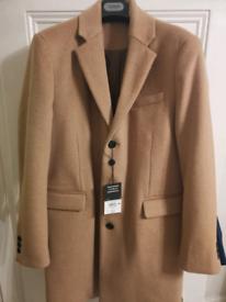 Mens M Topman camel coat