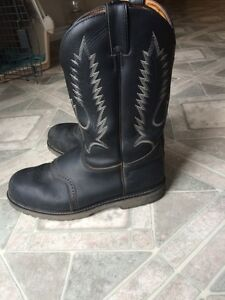 Men's size 11 steel toed cowboy boots