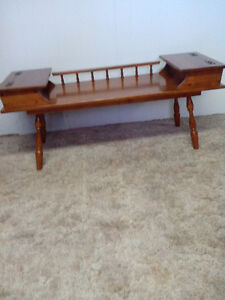 Solid Maple Coffee Table and 2 End Tables with storage Cambridge Kitchener Area image 1
