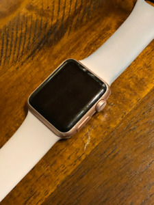 Rose Gold Apple Watch Series 1 (Cracked Screen)