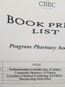LOOKING: Pharmacy Assistant Books