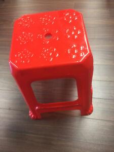 $4.99 Brand New Red Plastic Stool, Chair